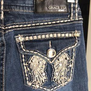 Grace in LA cropped jeans size 28